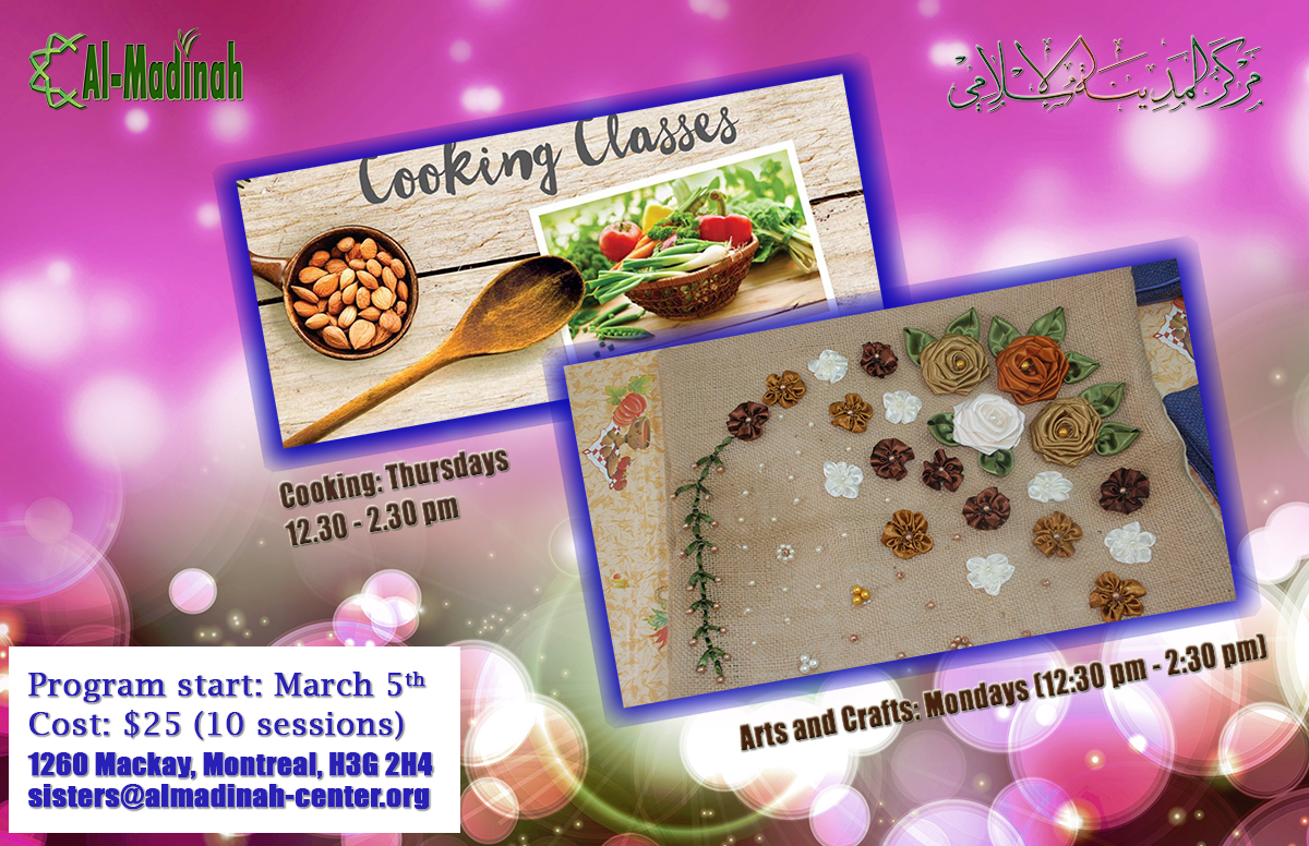 Cooking and artistic classes for sisters